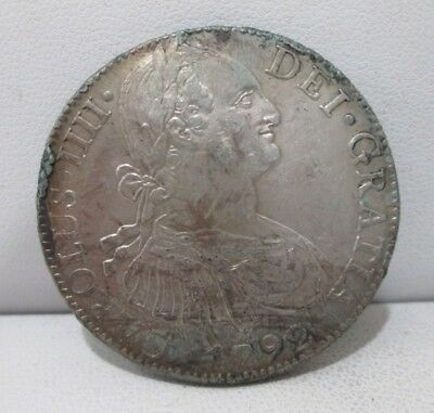 1792 Mexican Colonial Eight Reales Silver Coin *