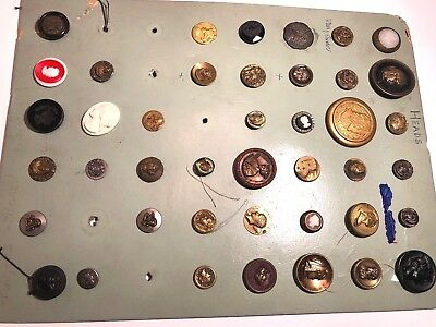 Outstanding!!! Lot Of Antique Head Buttons Egyptian Intaglio Must See