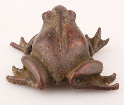 China Rare Bronze Handmade Frog Animal Statue Figurine Old Antique Collection