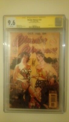 Wonder Woman # 184  Cgc 9.6  Nm+  Signed Series Adam Hughes Vintage Variant 2002