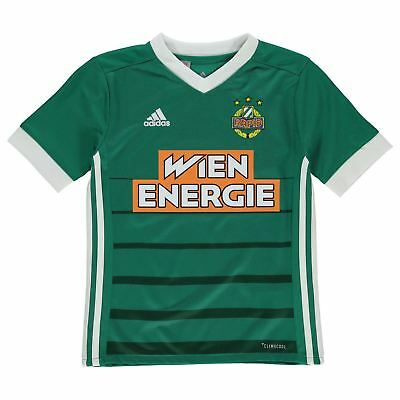 cce9c629f86 adidas Rapid Vienna Wien Home Jersey 2018 2019 Juniors Green Football Soccer  Top