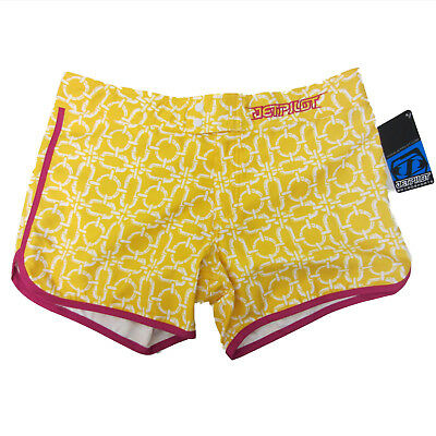JetPilot New Women's Sizzle Shorts Yellow/Pink Ladies Watercraft Size 1