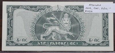Ethiopia $1 Note - UNC - CAT $20