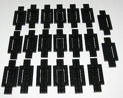 LEGO LOT OF 20 BLACK CAR BASE PIECES