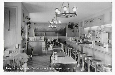 Branding Iron Cafe & Bar DUBOIS WY Real Photo Adv Postcard Branding Iron On Wall