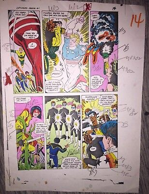 Dc Outsiders Annual #1 Original Color Guide Art  W/ Coa One If A Kind