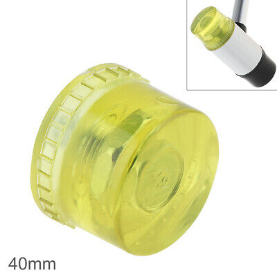 Yellow 40mm Double Faced Rubber Hammer Head Beads Replaceable Nylon Mallet Tool