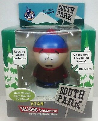 Comedy Central South Park STAN TALKING DESKMATE figure with Display Base 1998