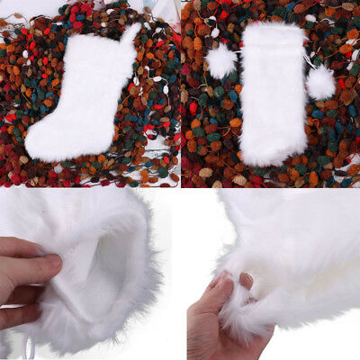 Faux Fur Plush Red Wine Bottle Cover Bags/Christmas Stocking Decoration Xmas