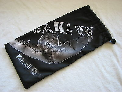 Oakley Batwolf Edition Micro Fiber Soft Cloth Sunglasses Bag Case Large New