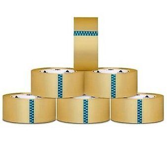 (12 Rolls) Clear Box Packing Shipping Tape 3-inch x 110 Yards 2.5 Mil Thick