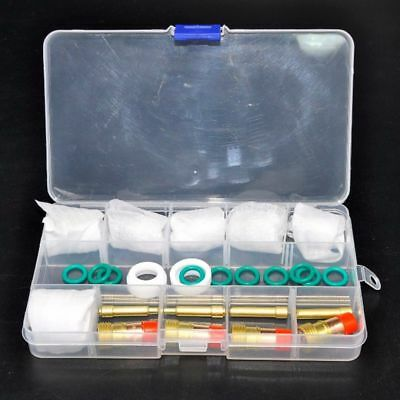 Gas Lens Kit For Tig WP-17/18/26 Torch 30pcs Pyrex Cup Kit Fashion High Quality