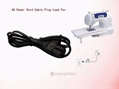AC Power Cable For Brother Computerized Sewing & Embroidery Machine Computer