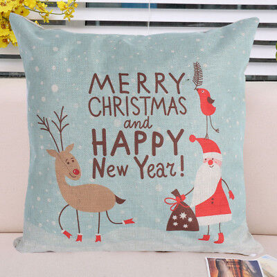 Christmas Snowflake Throw Pillow Covers Embroidery Cushion Cases for Home Sofa