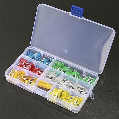 120pcs Auto Car Motorcycle Boat FUSES Set Mini Blade Fuse Assortment Kit APM ATM