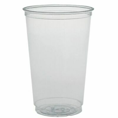 1000 x Solo 20oz Clear Cup & Domed Lid With No Hole Sweets Chocolates Supplies