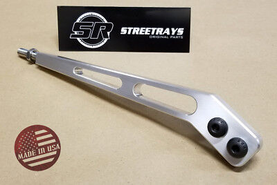 "[SR] Billet Aluminum 10"" Bent Shifter Handle Lever Tremec T5 T45 T56 TKO500 600"