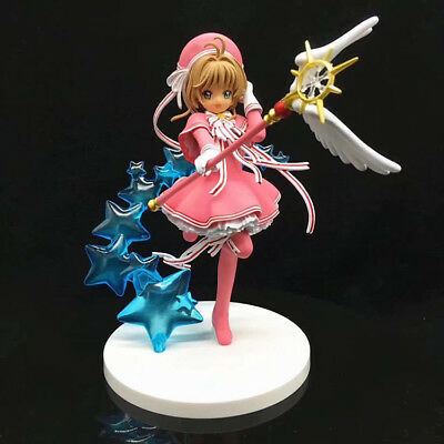 Anime Card Captor Sakura Kinomoto Sakura Clear Card Ver. PVC Figure New In Box