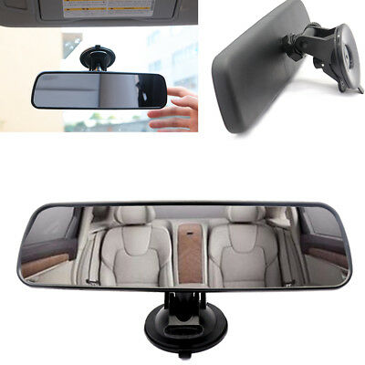 Universal Car Auto Van Wide Interior Rear View Mirror Suction Clip On Rearview