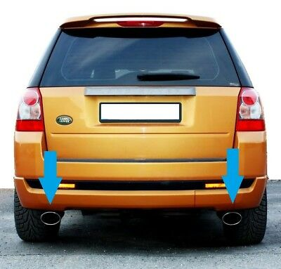 HST style exhaust chrome tailpipe tips stainless Land Rover Freelander 2 petrol