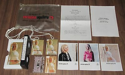 Japan PROMO ONLY set! CHRISTINA AGUILERA official CASSETTE, PHOTOS, LAMINATE etc