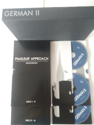 German Pimsleur Approach Method Level II / 2 Gold Edition 16 CD's Free shipping