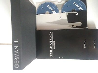 German Pimsleur Approach Method Level III 3 Gold Edition 16 CD's Free shipping
