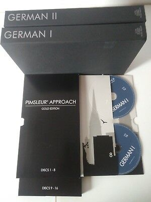 German Pimsleur Approach Method Level I II Gold 1 - 2 Total of 32 CD's