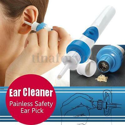 Painless Cordless Comfort Electric EAR PICK Wax Remover Vacuum with Retail Box