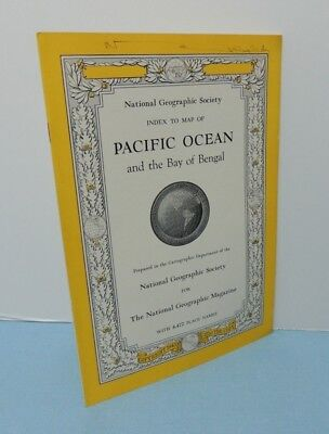 INDEX booklet September 1943 Map PACIFIC OCEAN + Bengal Bay National Geographic