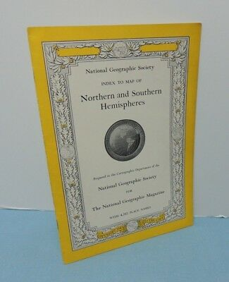 INDEX booklet - April 1943 NORTHERN + SOUTHERN HEMISPHERES ~ National Geographic