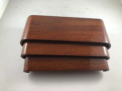 asian display stand set of 3 reddish scroll NOS new 6544