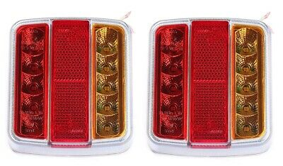 Pair Of 12v Rear Tail Lights Lamp 5 Function Trailer Caravan Truck Lorry 18 LED