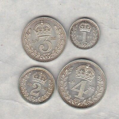 1932 George V Maundy Set Of Four Coins In Near Mint Condition