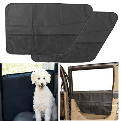 2Pcs Oxford Cloth Pet Car Door Cover Protector Waterproof Travel Window Seat