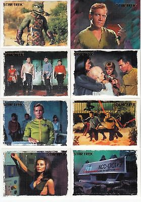 12x STAR TREK TOS ART AND IMAGES COMPLETE CANVAS STYLE 81 CARD SET - SALE