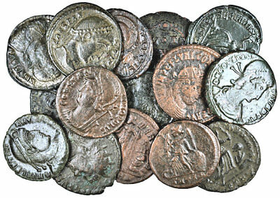 FORVM VF or Better Lot 16 Nice Late Roman Imperial Bronze 17-20mm Nice Coins!