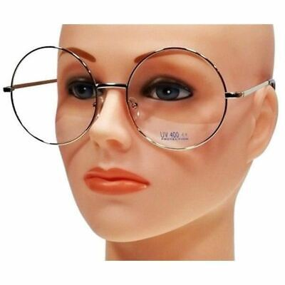 674402eb82 NWT Extra Large Round 60 s Retro Clear Lens Glasses Oversized Metal Frame