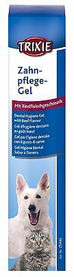 25446 Trixie Dental Hygiene Gel with Beef Flavour - Fresh Breath For Dogs