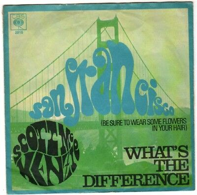 """SCOTT McKENZIE 7"""" San Francisco (Be sure to wear some flowers in your hair) +PIC"""
