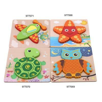 Wooden Animal Owls Shaped Puzzle Baby Toddler Preschool Kids Toy Gift J