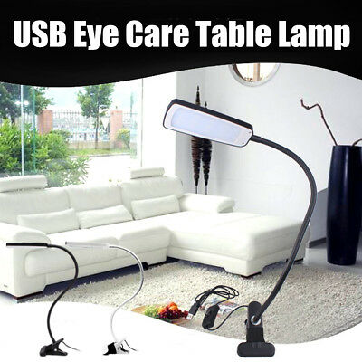 USB Flexible Reading LED Eye Care Table Lamp Clip-on Bedside Light Book Study