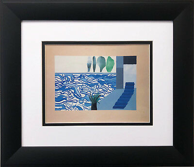 "David Hockney ""Picture of a Hollywood Swimming Pool"" Pop Art  NEWLY FRAMED ART"