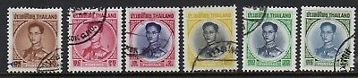 Thailand 1963/4 x 6 fine used values to 40b
