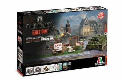 ITALERI 36505 World of Tanks Roll Out Himmelsdorf 1/35 Diorama Set FREE SHIP