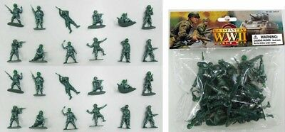 WWII US Army Infantry Paratroopers AIRFIX COPIES 24 Soldiers 1/32 FREE US SHIP