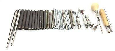 Craftool Huge Lot Of Leather Working Tools Stamps Vintage