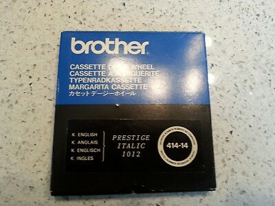Brother Daisy Wheel Cassette 1012 Prestige Italic 414-14  Vgc And Demo Disk