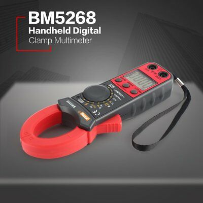 BM5268 Digital Clamp Meter Multimeter True RMS AC/DC Volt Amp Ohm Diode Tester P