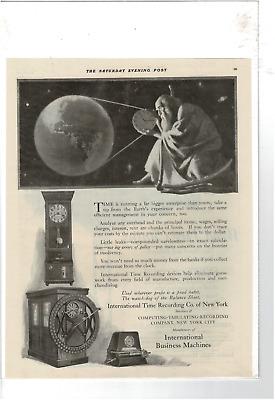 May 1921 Saturday Evening Post International Time Recording Ibm Ad Print D010